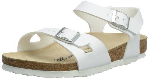 Birkenstock Rio, Damen Sandale, Weiß (WEISS), 41 Schmal