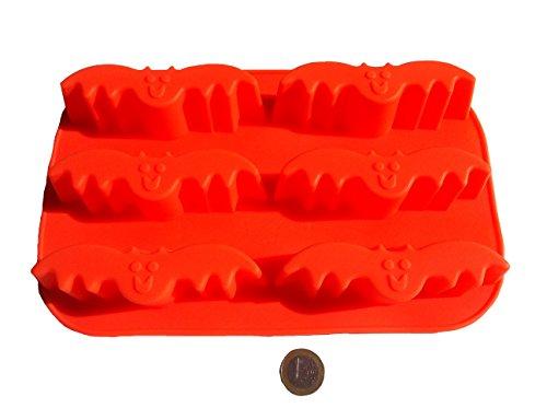Halloween Fledermaus Vampir Silikonform Backform Schokoladenform Pralinenform Cupcake Keks Kuchen Basteln Backen Dracula Verzieren Grusel Geister Formen Eiswürfelform von ROYAL HOUSEWARE