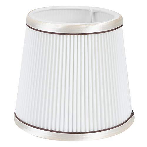 Fdit Moderner Lampenschirm, hängende Stoffe Pendelleuchte Abdeckung Lampenschirm Lampenfassung für Wohnzimmer Schlafzimmer(Weiß)