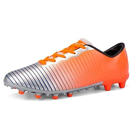mofeng Fußballschuhe Junior FG Erwachsene Fußballschuhe, Orange - Orange - Größe: 39 1/3 EU