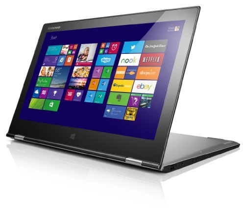 Lenovo Yoga 2 Pro-13 33,8 cm (13,3 Zoll QHD+ IPS) Convertible Ultrabook (Intel Core i7 4500U, 3,0GHz, 8GB RAM, 512GB SSD, Intel HD Graphics 4400, Touchscreen, Win 8.1) silbergrau