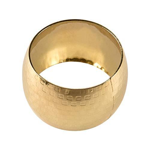 Serviettenschnalle Metall Serviettenring 6 Stück Modellzimmer Serviettenschnalle Stoffkreis Einfache Moderne Runde