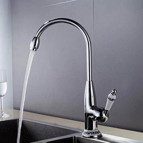Lddpl Tap Keukenkranen Antiek/Chroom Kraan voor Keuken Mixer Tap met Keramische Kraan Koud en Hot Keuken Sink Tap Water Mixers