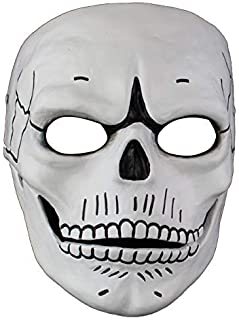 yacn JamesBond007 Skull Mask Cold Killer HalloweenDecorations Replica Halloween Costume for Man