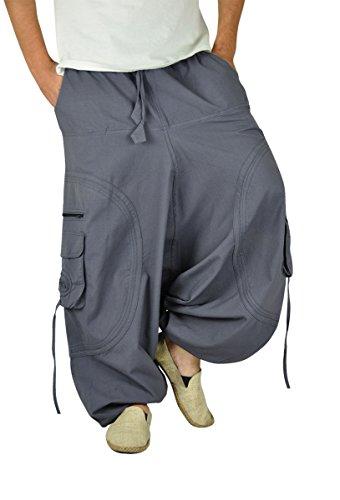 virblatt – GOA Hose und Haremshose Herren GOA Kleidung - Abgefahren grau