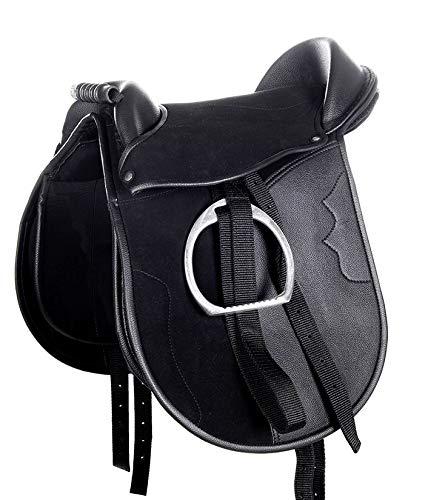 HKM Shetty Sattel -Funny Horses-, schwarz, 12