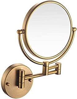 Makeup Vanity Mirror, Two-Sided Wall Mounted Beauty Mirror Multiple Magnification Bathroom Mirror 360° Swivel Extendable Cosmetic Mirror 8inch,Nickel_7X,Bathroom