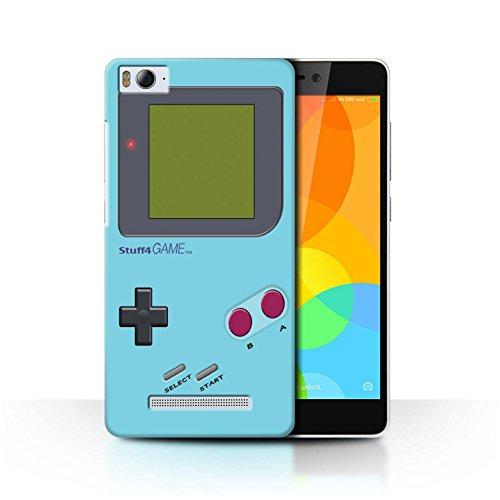 Stuff4® Hülle/Case für Xiaomi Mi 4i / Hellblau Muster/Videogamer/Gameboy Kollektion