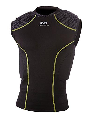 McDavid MD7935 Rival Intg Shirt Football Protective Gear, Medium, Black/By