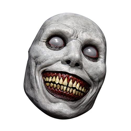 JustPe Mscara de Halloween Espeluznante, Casco Realista de Cabeza Entera, Fiesta de Disfraces de Halloween Mscara de Cabeza de Ltex, Terror Mask Carnaval Horror Cosplay Disfraz