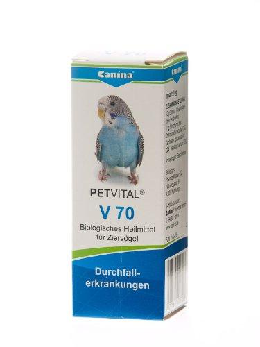 Canina 40070 6 Petvital V 70, Inhalt 10 g Globuli für Vögel