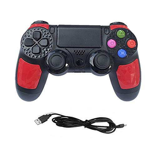 Manette pour PS4 Wireless Manette PS4 Vibration Manette de Jeu avec USB Rechargeable, PC Manette Bluetooth Contrôleur de Jeu sans Fil Wireless Gamepad pour PS4 Slim/PS4 Pro/PS3/PC(Windows 7/8 /10)