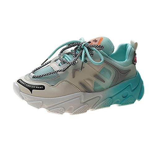 ZZLHHD Zapatillasdeplayaantideslizantes,Comfortableshockabsorption,netbreathablecasualshoes-Green_36,Zapatillasdeentrenamiento
