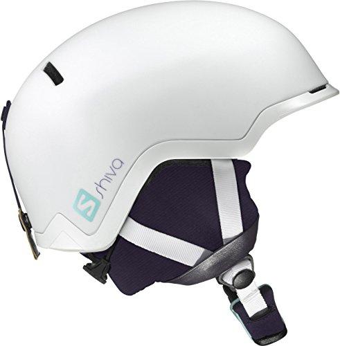 Salomon, Damen Ski- und Snowboardhelm für Freeride/Snowpark, EPS 4D, Größe M, Kopfumfang 56,5-57,5 cm, SHIVA, Weiß, L39037200