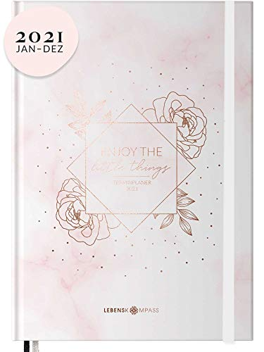Terminplaner 2021 DIN A5 - Hardcover Wochenplaner mit 2 Lesebändchen - Terminkalender zum Planen, Organisieren und Notieren - Kalender, Taschenkalender und Planer 2021