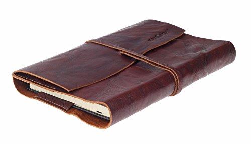 Greenburry Leder-Tagebuch l Leder Kochbuch l Ledereinband A5 I Notizbuch aus Leder l Tagbuch I Geschenkidee I Buchumschlag aus Eder l Diary A5 l Lederhülle A5 I 23x17x2cm