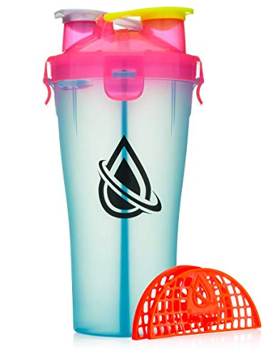 Hydracup - Doppel Bedrohung Shaker Flasche - Miami Blau, 28 oz
