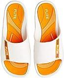 FLITE Men's White Orange Flip Flops Thong Sandals-8 UK/India (42 EU) (FL0185G)