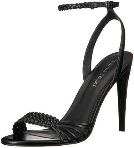 Ivanka Trump Women's HOLIE Heeled Sandal, Black Leather, 7.5 M US