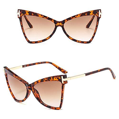 Secuos Gafas De Sol Cuadradas De Gran Tamaño con Forma De Ojo De Gato, con Borde con Estampado De Leopardo, Gafas De Sol De Moda para Mujeres/Hombres, 2001Brown-Leopard