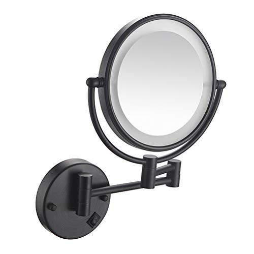 Cosmetic mirror Miroir de Maquillage Mural avec lumière LED Miroir de courtoisie télescopique Pliant Double Face à grossissement 3 / 5X,5,3X