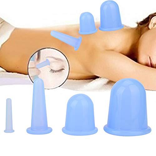 Entrepôt de ventouses, 4pcs Vaccum Massager facial Cupper Cup Lifting Lifting Raffermissant Rides Traitement de Thérapie Soins de Réduction(02)