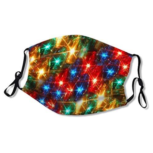 1 bandana de protection buccale pour adulte - Pour Halloween, Noël - Motif animal - Avec bande de nez et coussinets