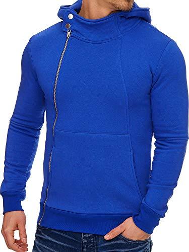 Tazzio Hoodie | Kapuzenpullover | Slim Fit | Herren Pullover Shirt | Kapuzenpullover | Sweatshirt | Sweatjacke | Sweat Hoody | Modell 3 | Royalblau M