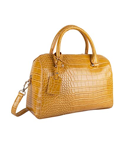 SIX Edle Handtasche aus Veganleder mit Trendiger Krokoprägung (726-808)