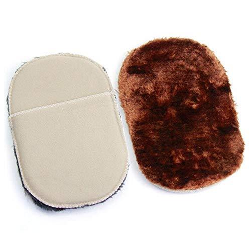 CKY Schuhhandschuhe Schuhpflegebürste Schuhe Reiniger Weiche Wolle Plüsch Farbe Polierte Handschuhe Wischschuhe Handtaschenbürsten, 17 * 10CM