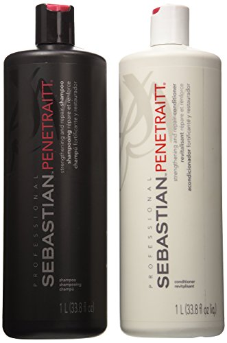 Sebastian Penetraitt Strengthening and Repair Shampoo & Conditioner Liter Set... by Sebastian