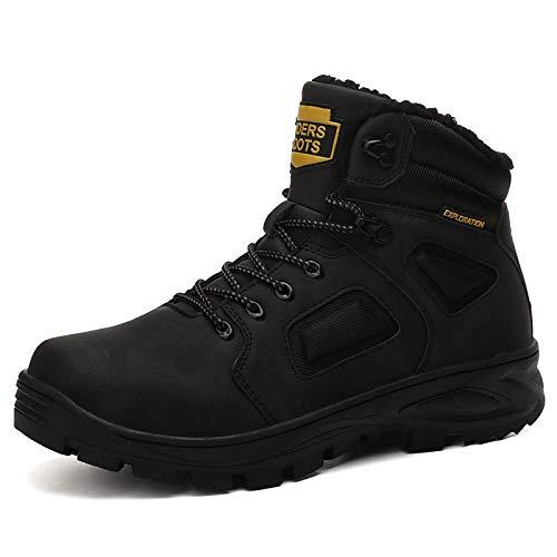 Herengevechtslaarzen kunstleder/PU herfst & winter zaken/vrijetijdslaarzen wandelschoenen warme laarzen/enkellaarzen zwart/donkerbruin/geel