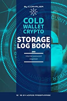 Cold wallet crypto storage log book and internet password organizer  Logbook To Protect your crypto cold recovery passphrase Usernames login and websites passwords 12-18-24 words passphrase