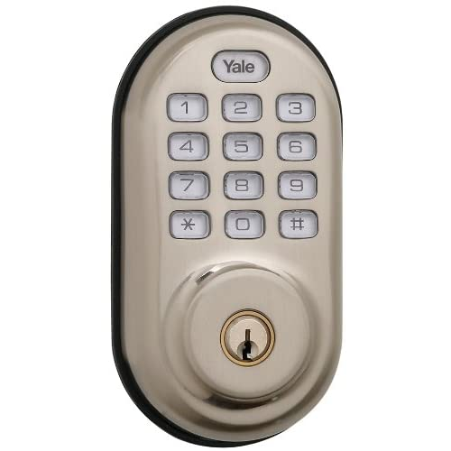 Yale Real Living Electronic Push Button Deadbolt Fully