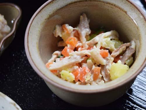 [テヅカヤマハウンドカム] 犬 手作りご飯 お惣菜 低リンで腎臓に優しい単品7食Aセット 鶏と野菜のカッテージチーズ和え7食 ハウンドカム食堂