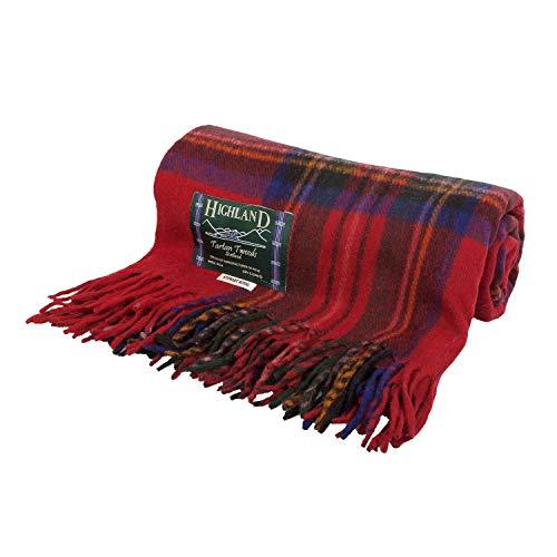 Highland Tappeto/coperta extra calda, in tweed scozzese misto lana