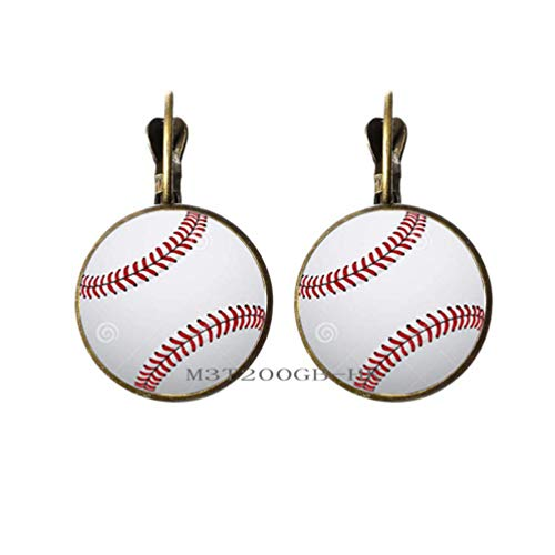 Baseball-Ohrringe, Baseball-Ohrringe, Baseball-Sport, Schmuck, Herren-Ohrringe, Baseball-Spieler, Team-Mat-Baseball-Geschenk, Baseball-Fan, Geschenk - MT018