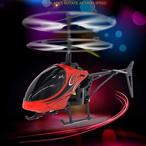 Hubschrauber Drohnenhubschrauber Drohne Flying Hubschrauber Mini RC Infraed Induktionshubschrauber Sensor Fernbedienung Blinklichtspielzeug Spielzeug Geschenk + Ladekabel und Fernbedienung