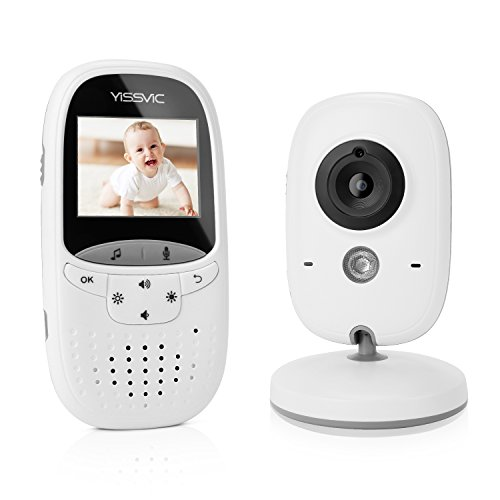 YISSVIC Babyphone 2.4GHz mit Kamera Wireless Video Baby Monitor VOX Nachtsicht Gegensprechfunktion Temperatursensor 2.0 Zoll LCD