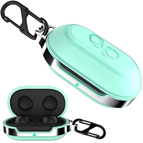 HALLEAST Galaxy Buds Case Cover, TPU Hard Protective Earbuds Case for 2019 & 2020 Samsung Galaxy Buds + Plus Case (Support Wireless Charging), Mint Green