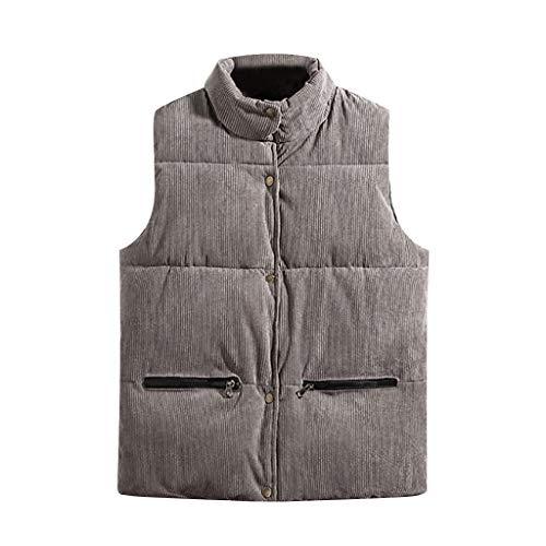 MAYOGO Westen Herren Daunen Westen Jacke Camouflage Kampf Steppjacke Ärmellose Jacke Winterjacke Puffer Jacke (Grau, M/EU:34)