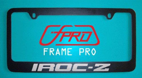 Chevrolet Iroc-z Black License Plate Frames (Zinc Metal)