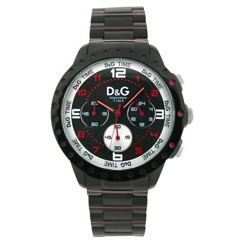 Dolce & Gabbana Dolce&Gabbana - Reloj analógico de Cuarzo para Hombre con Correa de Acero Inoxidable, Color Negro