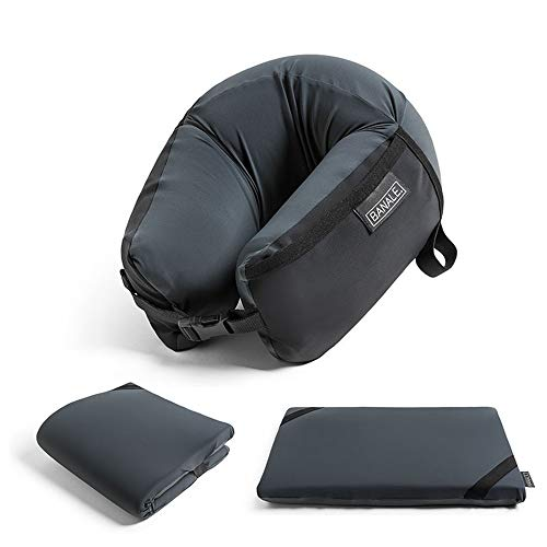 BANALE(バナーレ) OMNI PILLOW オムニピロー 3in1 低反発素材の携帯枕 ネック ピロー ブラック