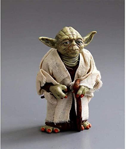 Shanping Figure Statue Star Wars Yoda Master 12 cm Ropa Real Se Puede Hacer Mano Modelo Modelo Regalos de Boda Figura de acción Toy Anime Figura Regalos
