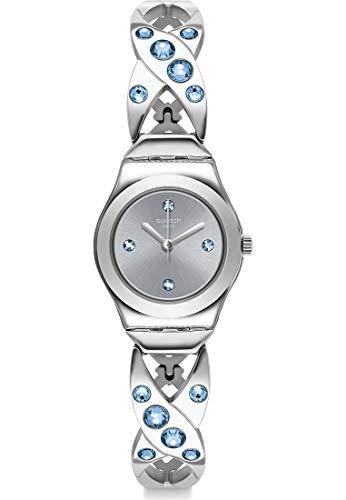 Swatch Unisex analoog kwarts horloge met roestvrij stalen armband YSS332G