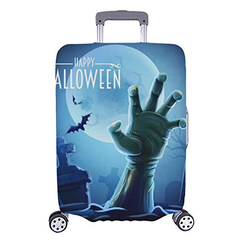 Mens Luggage Cover Halloween Thrilling Zombie Hand Durable Washable Protecor Cover Fits 28.5 X 20.5 Inch Suitcase Cover Protector Large Protective Covers For Luggage Princess Suitcase Cover Protector