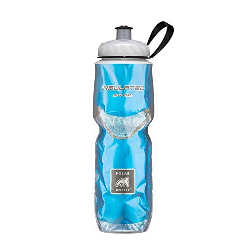 Polar Bottle Insulated Water Bottle 24 oz - 100% BPA-Free Cycling and Sports Water Bottle - Dishwasher & Freezer Safe (Blue, 24 ounce)