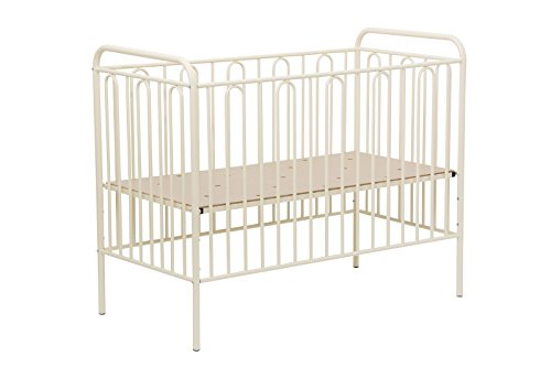 Babybett Gitterbett Kinderbett aus Metall Polini Vintage 110 cremé 120 x 60 cm