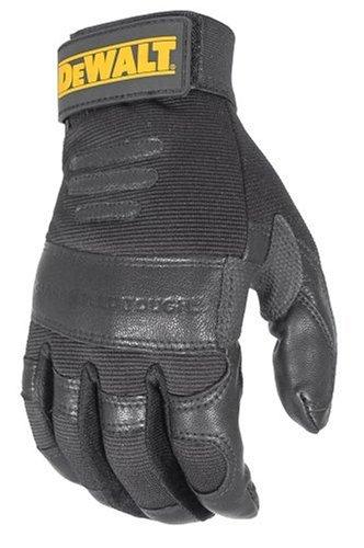 Dewalt DPG25L Goat Skin Vibration Reducing Multi-Padded Performance Work Glove, Large